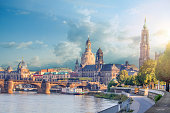 istock Cityscape Of Dresden At Elbe River And Augustus Bridge, Dresden, Saxony, Germany 1140086879