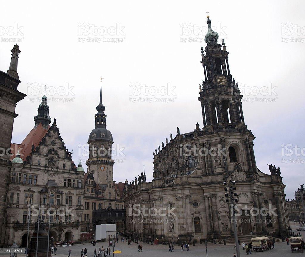 Cityscape of Dresden stock photo