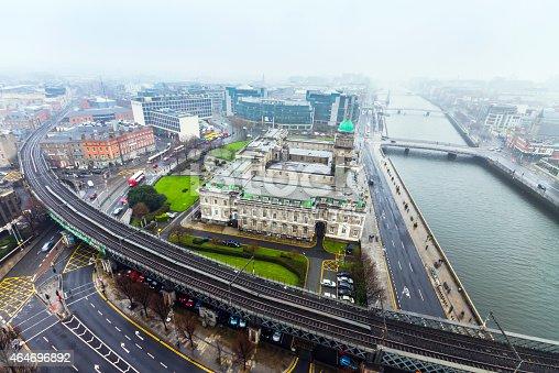 City center skyline of Dublin, Ireland.