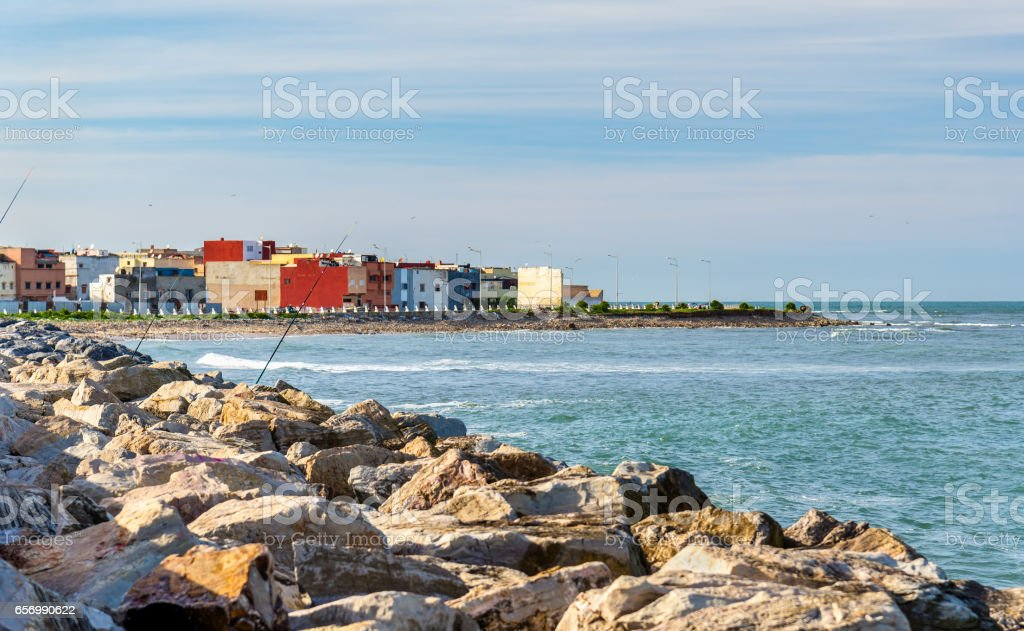Cityscape of El Jadida town in Morocco stock photo