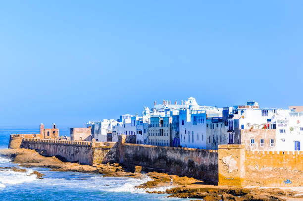 cityscape of essauira in morocco - north africa stock photos and pictures