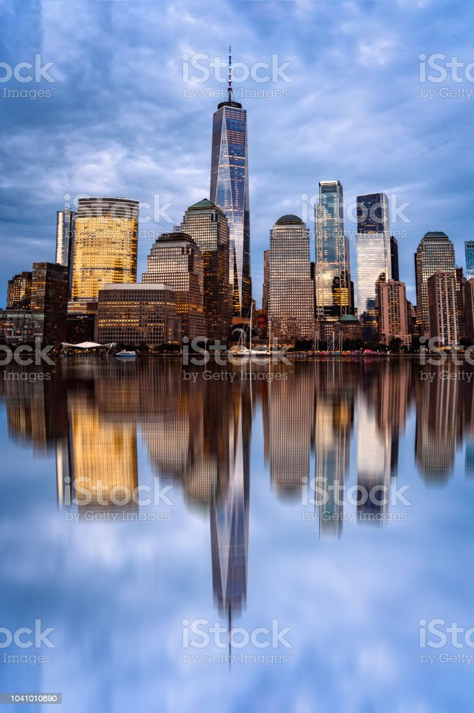 Cityscape of Financial District of New York stock photo