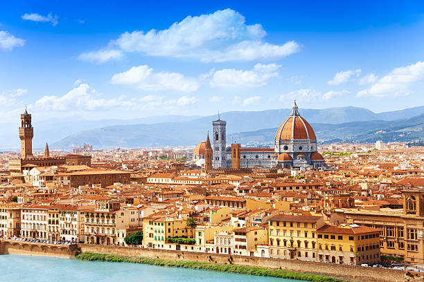 Cityscape of Florence stock photo
