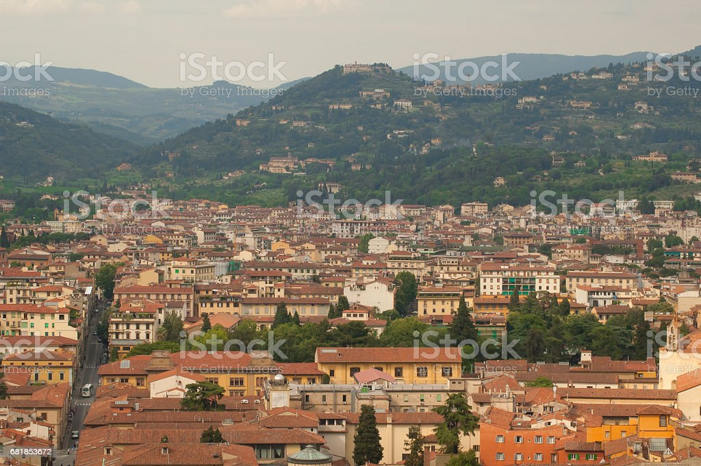 Cityscape of Florence стоковое фото