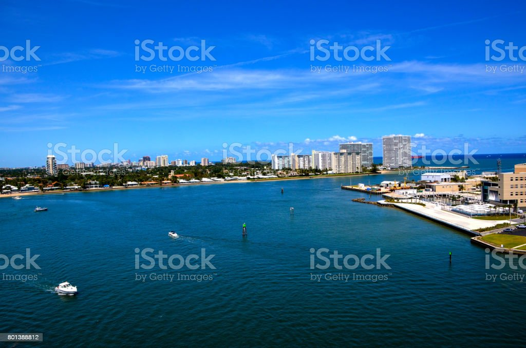 Cityscape of Fort Lauderdale stock photo