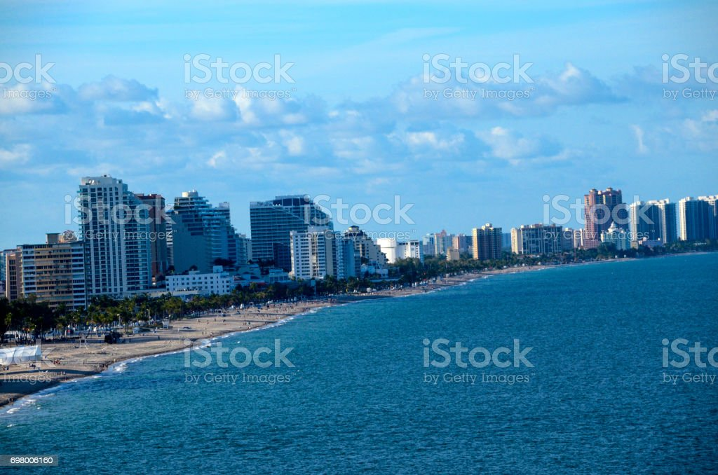 Cityscape of Ft. Lauderdale Florida stock photo