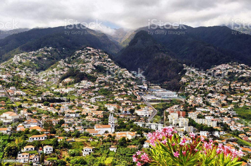 Cityscape of Funchal,Madeira Island,Portugal stock photo