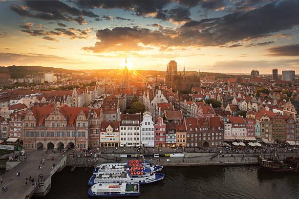 Stadtansicht von Danzig, Polen – Foto