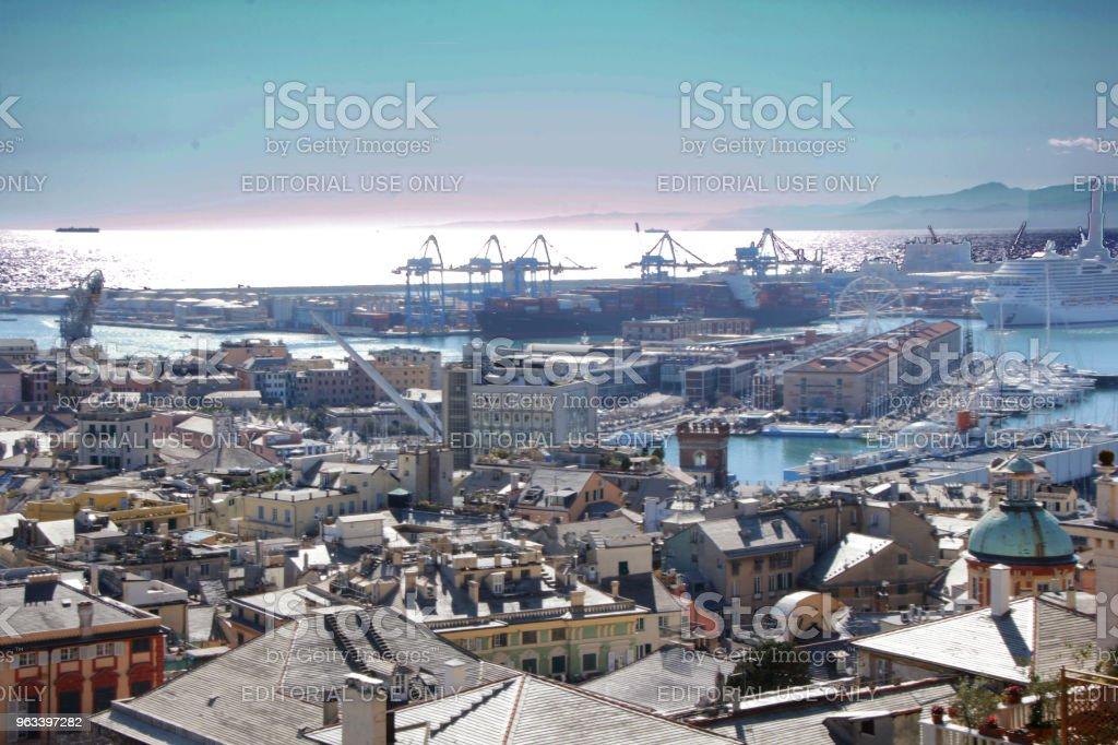 Cityscape of Genoa - Zbiór zdjęć royalty-free (Architektura)