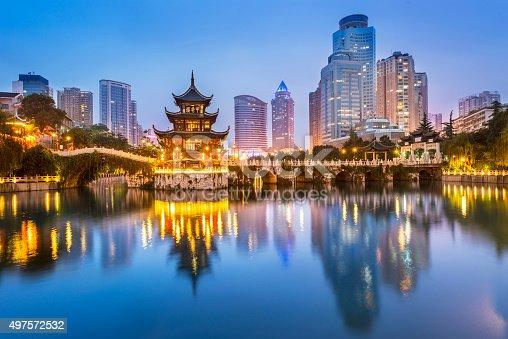 istock Cityscape of Guiyang at night 497572532
