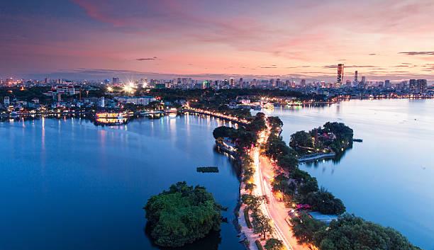 Cityscape of HaNoi Ha Noi City, the Capital of VietNam hanoi stock pictures, royalty-free photos & images