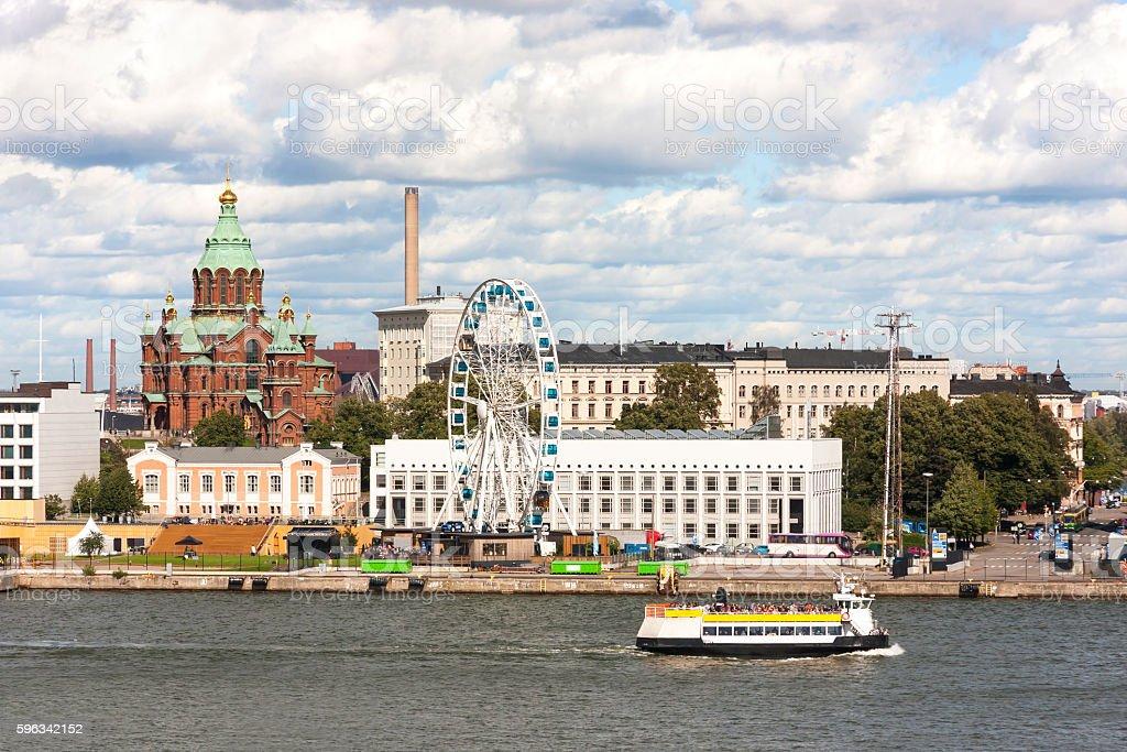Cityscape of Helsinki, capital of Finland royalty-free stock photo