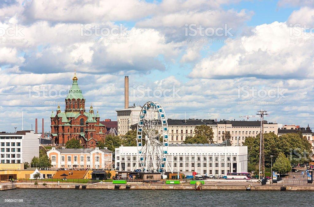 Stadtansicht von Helsinki, die Hauptstadt von Finnland Lizenzfreies stock-foto