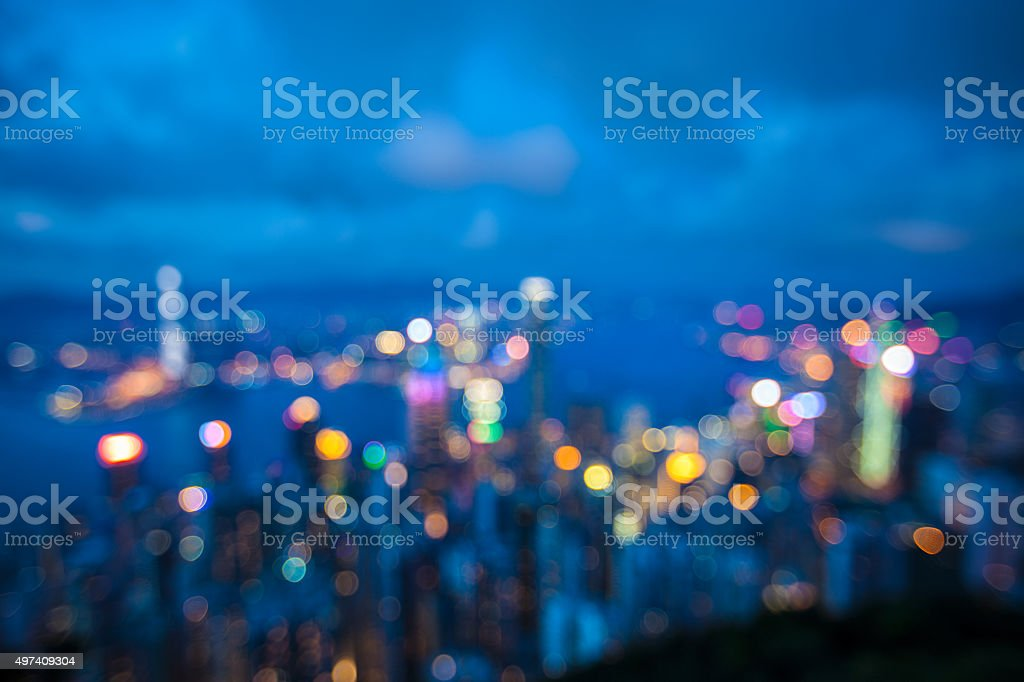 Cityscape of Hongkong stock photo