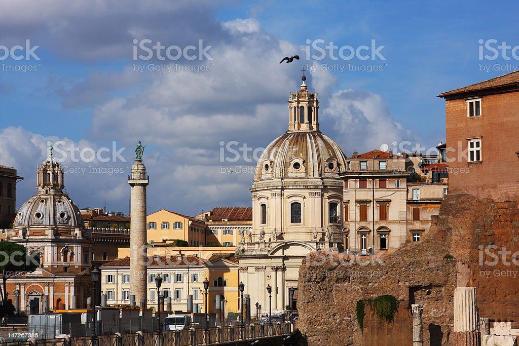 Cityscape of italian capital Rome royalty-free stock photo