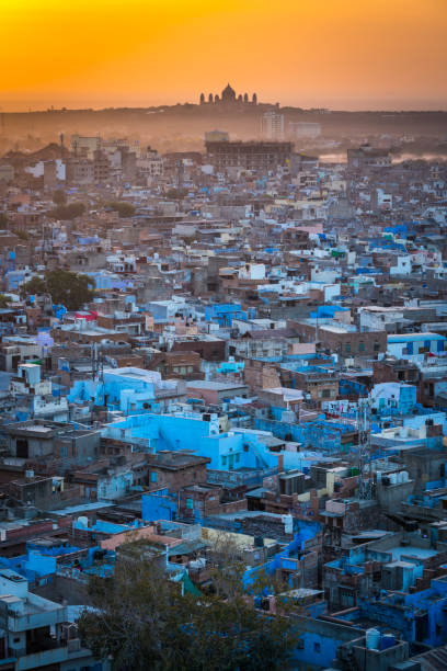 Cityscape of Jodhpur at sunrise in Rajasthan, India. stock photo