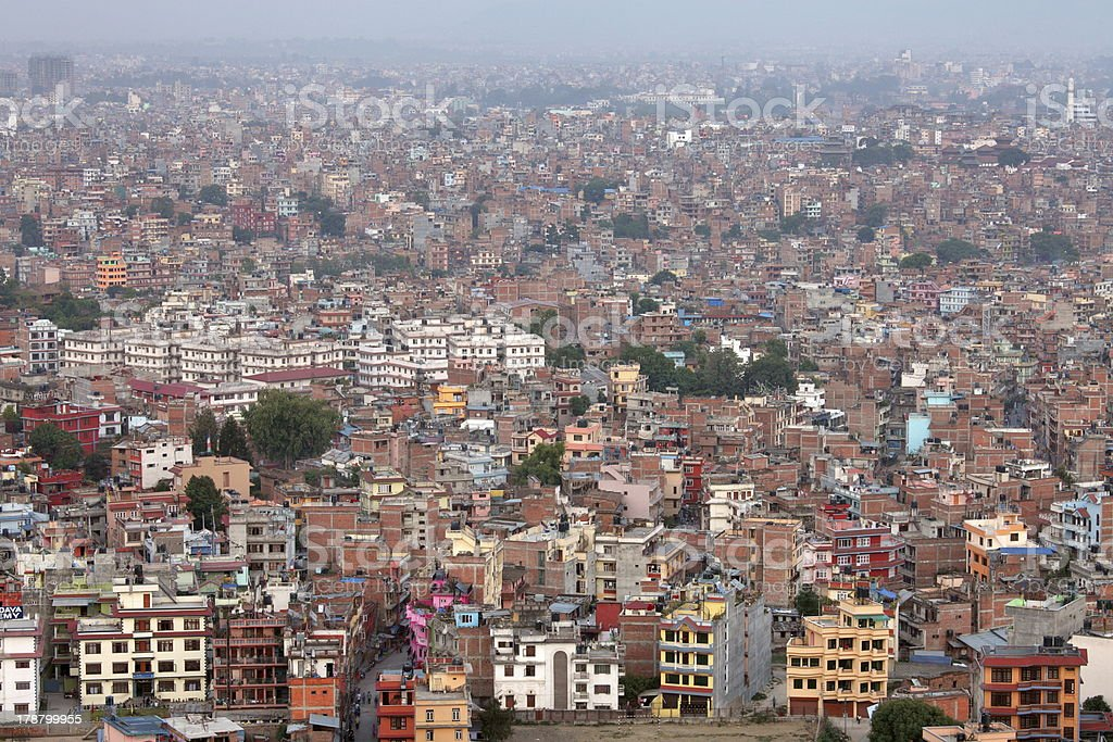 Cityscape of Kathmandu royalty-free stock photo