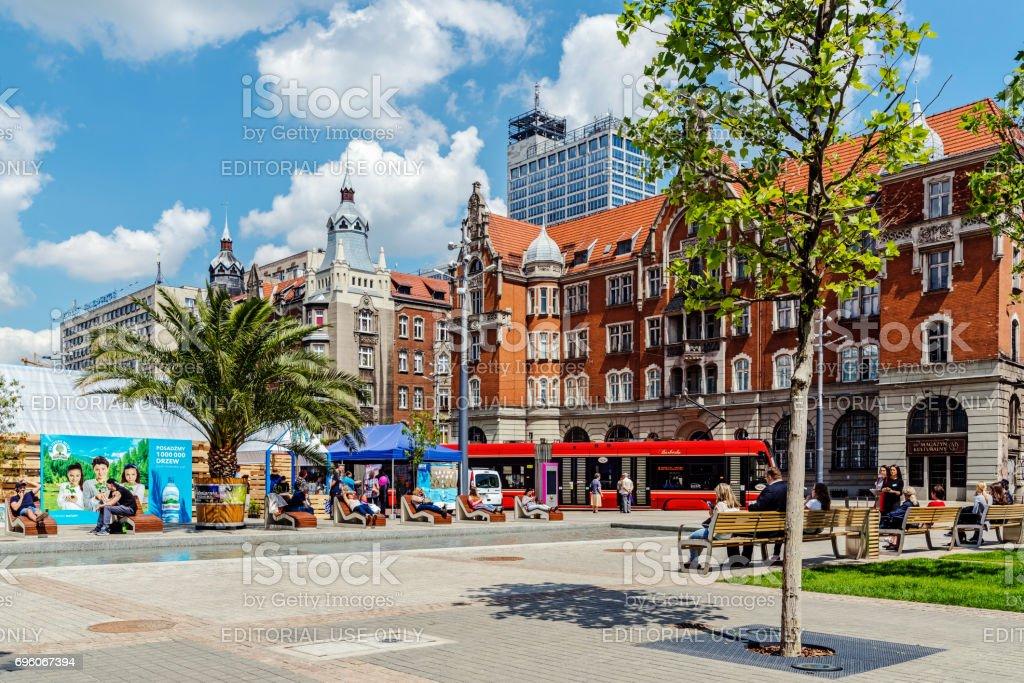 Cityscape of Katowice stock photo