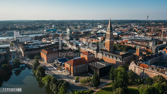 Cityscape of Kiel, the city in the northern part of Germany