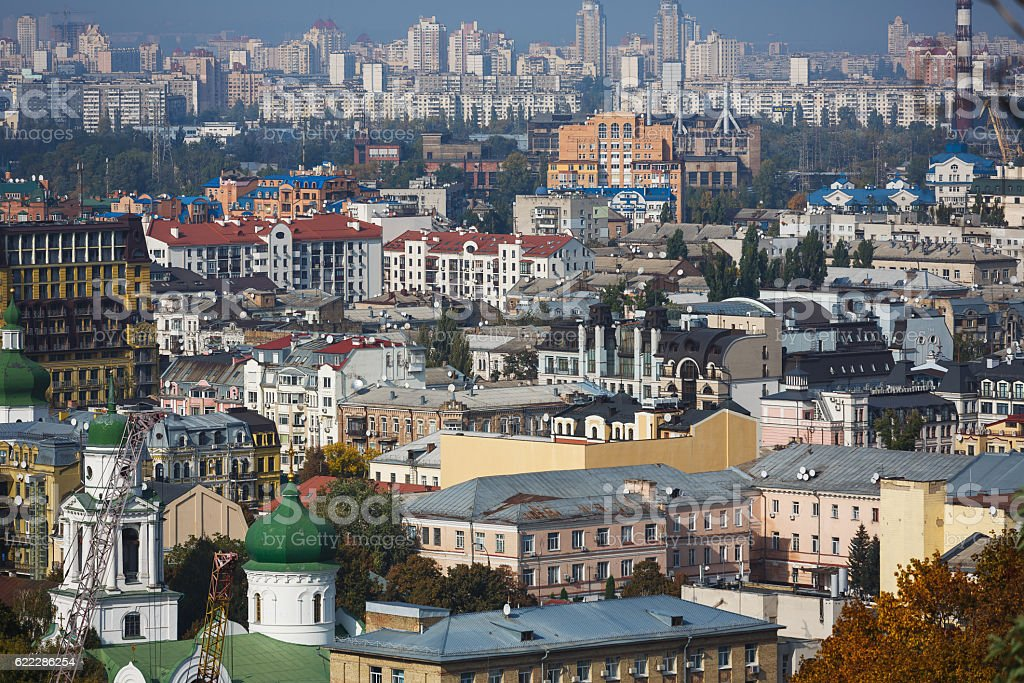 Cityscape of Kiyv, Ukraine stock photo