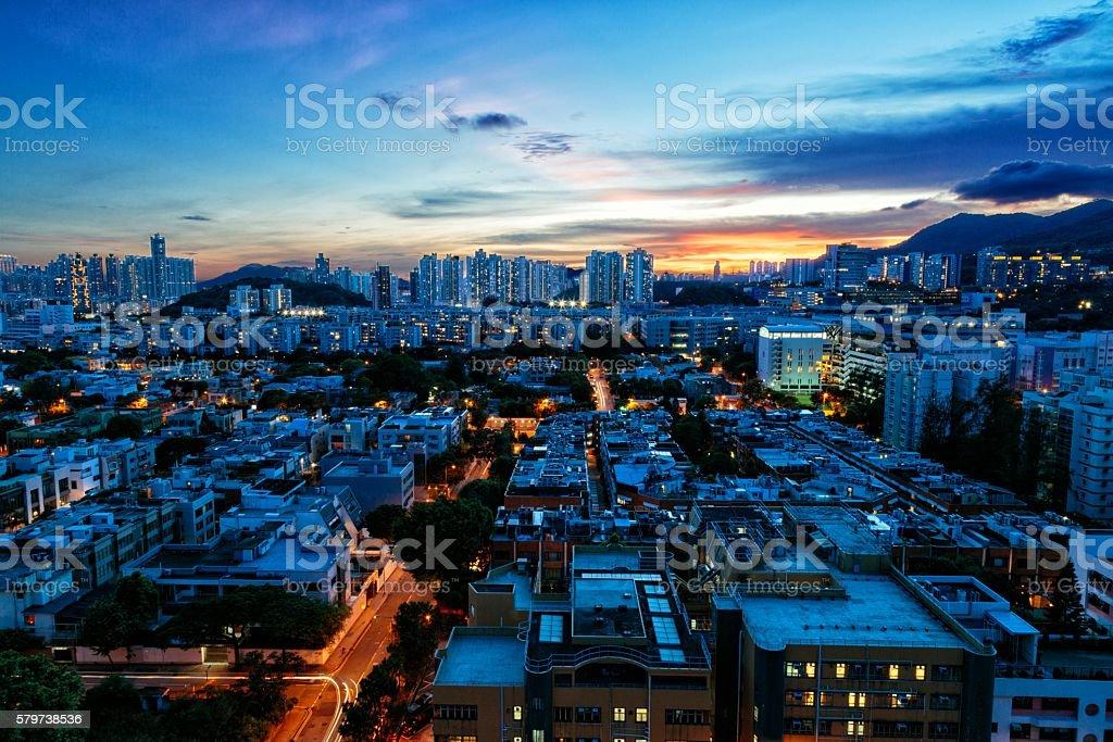 Cityscape of Kowloon Tong, Hong Kong stock photo