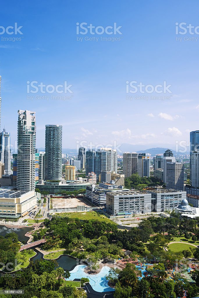 cityscape of kuala lumper royalty-free stock photo