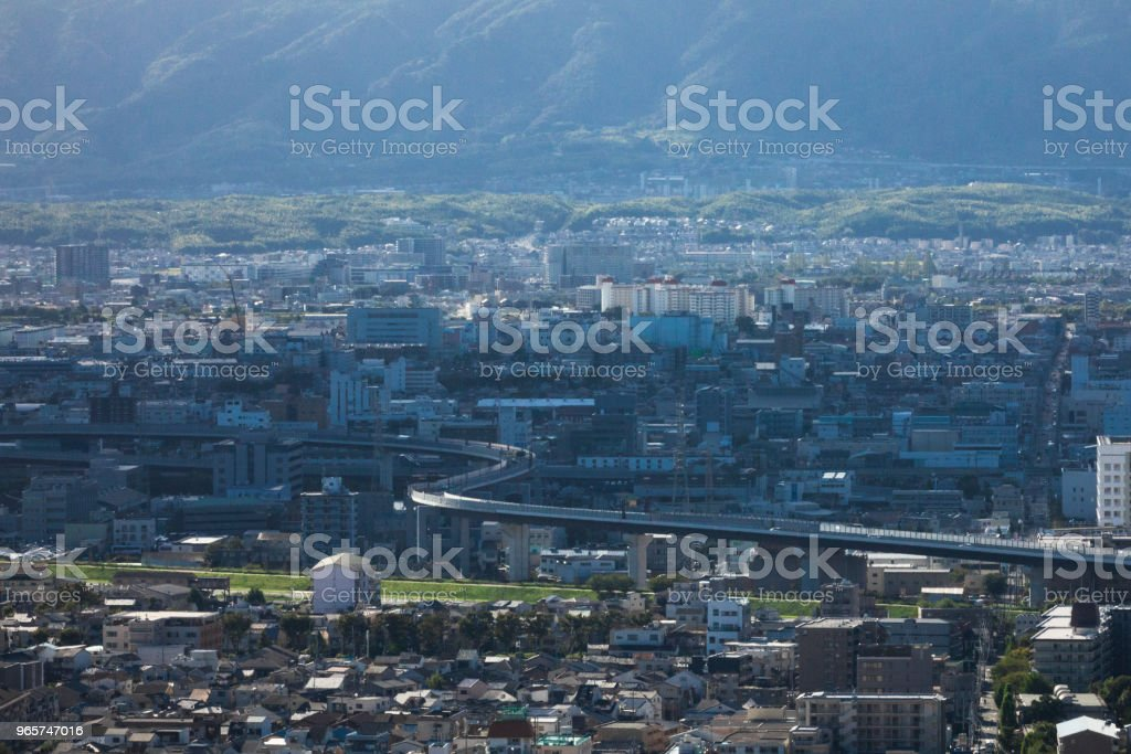 Cityscape of Kyoto, Japan - Royalty-free Building Exterior Stock Photo