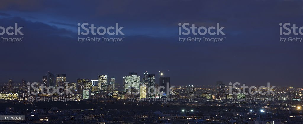 Cityscape of La Defence, Paris. Panoramic shot (XXL) royalty-free stock photo