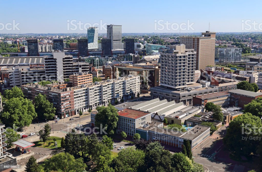 Cityscape of Lille, France stock photo