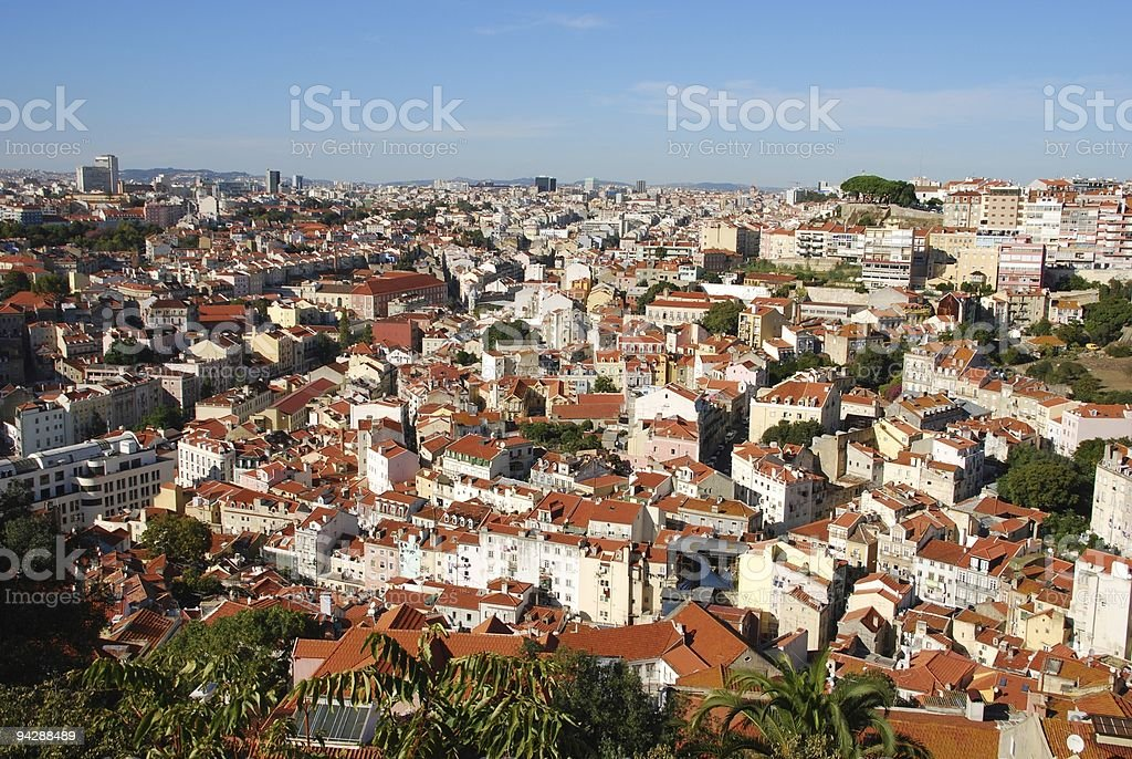 Cityscape of Lisbon in Portugal royalty-free stock photo