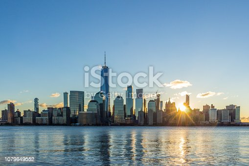 Cityscape of Lower Manhattan, New York in the Sunny Morning. United States of America