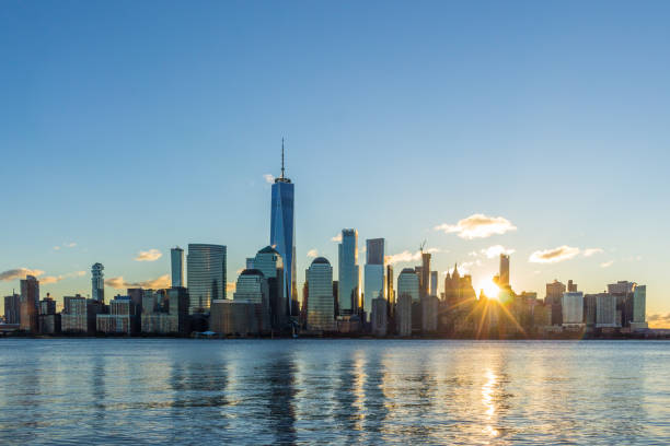 Cityscape of Lower Manhattan, New York in the Sunny Morning. Uni Cityscape of Lower Manhattan, New York in the Sunny Morning. United States of America manhattan financial district stock pictures, royalty-free photos & images