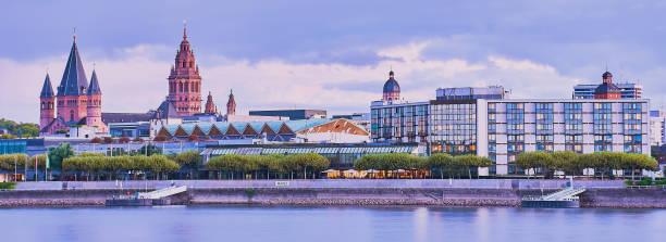 cityscape of Mainz, banner stock photo