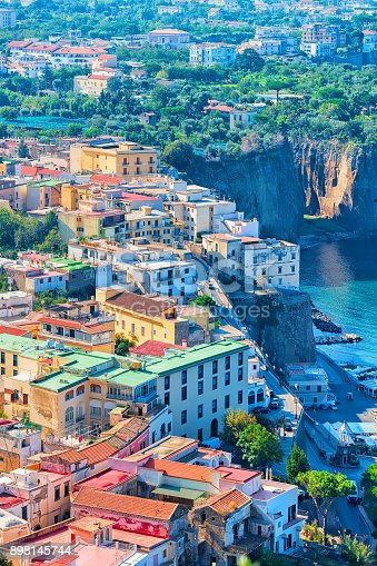 istock Cityscape of Marina Grande with houses and port Sorrento 898145744