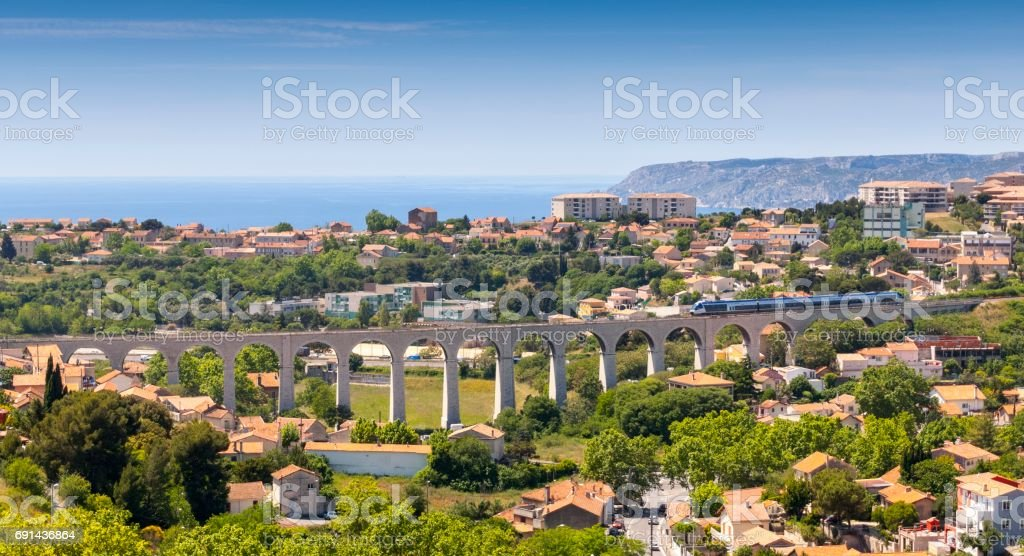 Cityscape of Marseille royalty-free stock photo