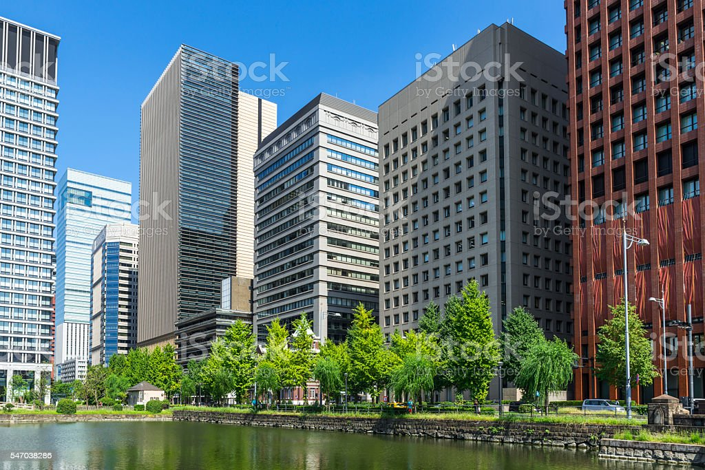 Cityscape of Marunouchi Hibiya Street stock photo