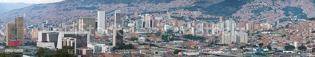 Cityscape of Medellin, Colombia stock photo