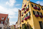 Cityscape of medieval town Dinkelsbuhl, Germany.