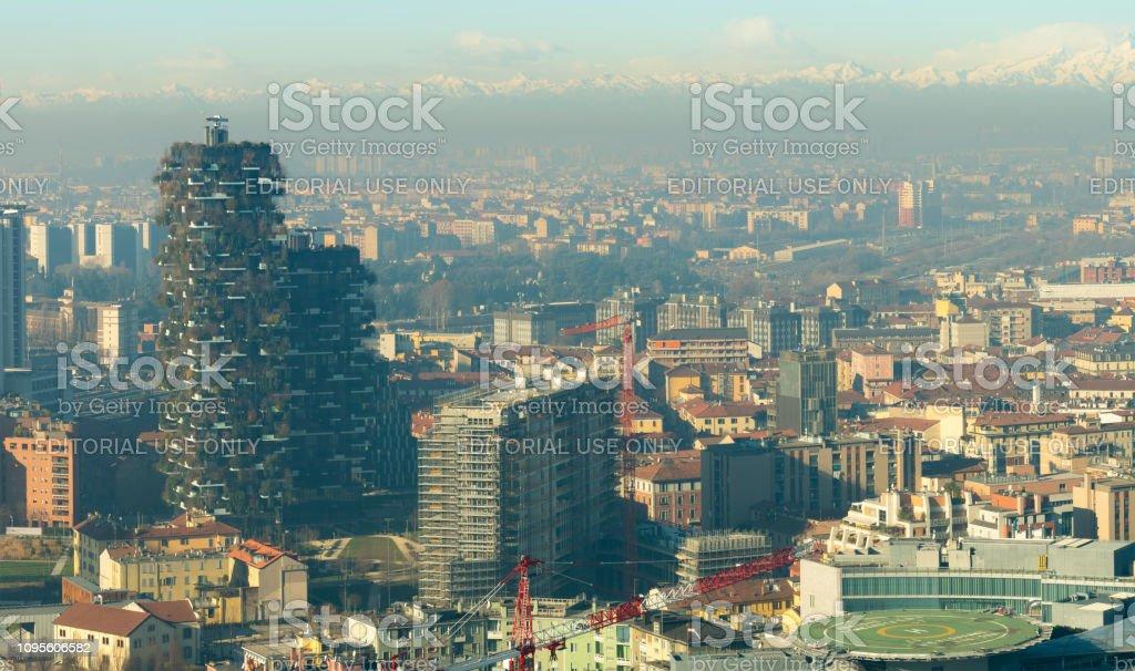 Cityscape of Milan - foto stock