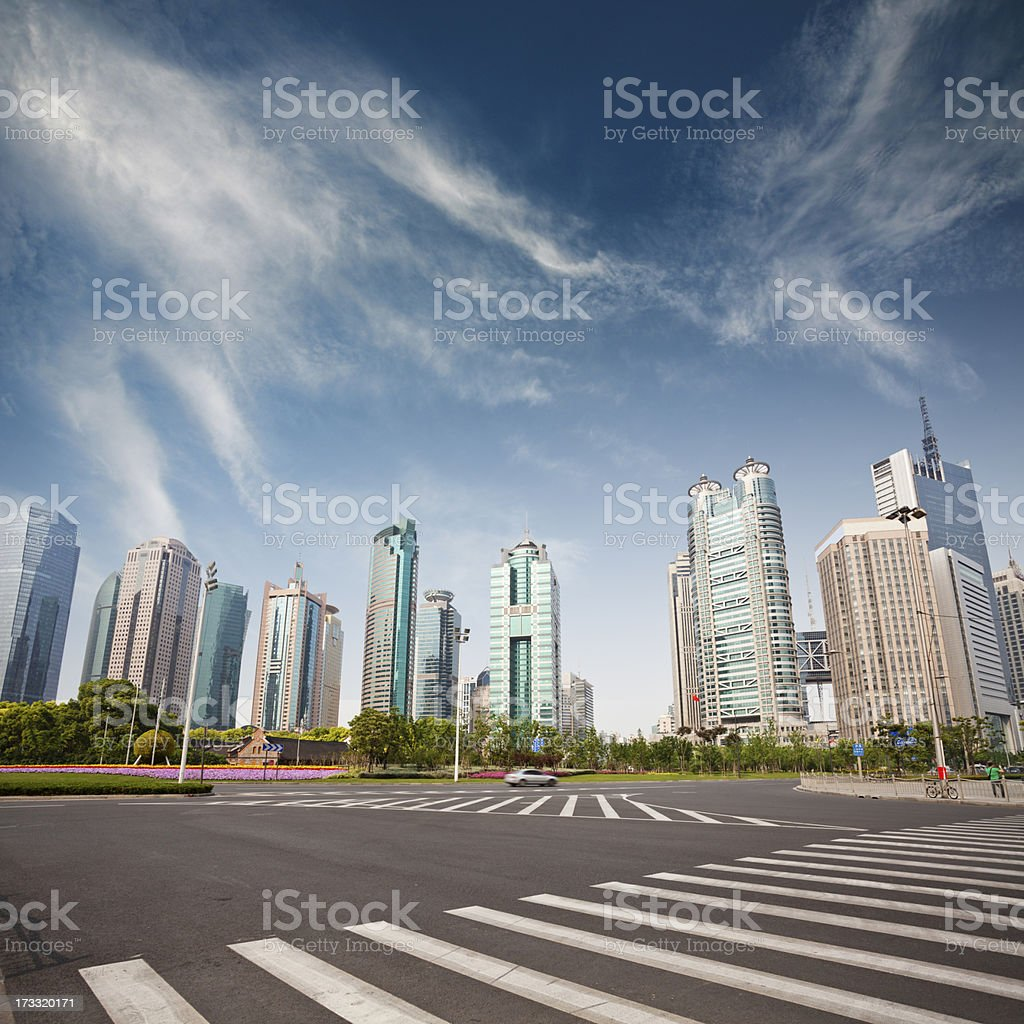 cityscape of modern city,shanghai royalty-free stock photo