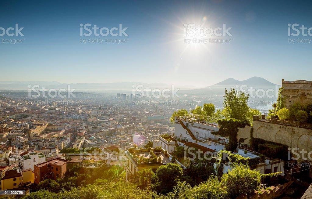 Cityscape of Naples, Campania, Italy stock photo