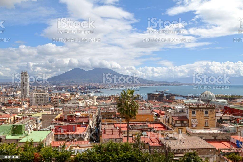 Cityscape of Naples stock photo