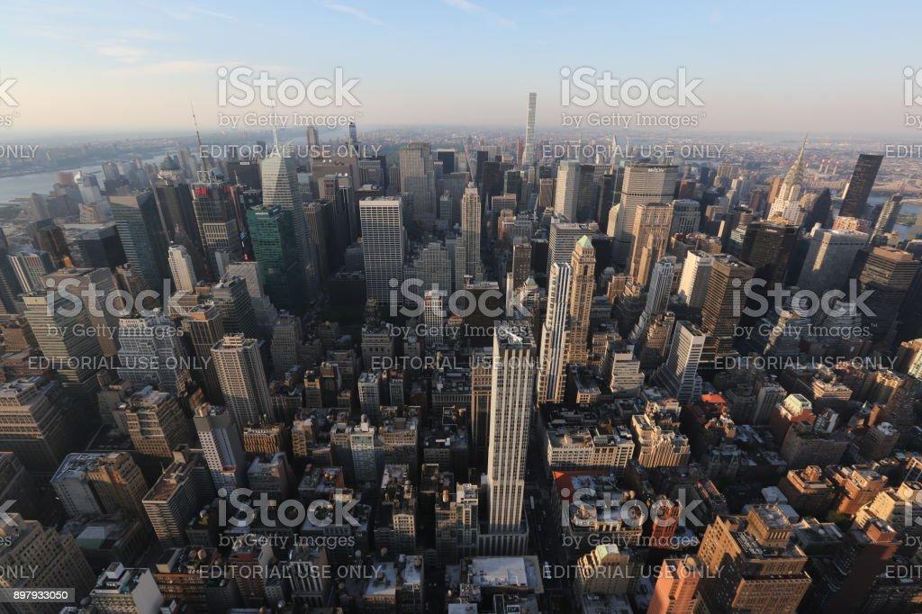 Cityscape of New York . America, New York City - May 13, 2017 stock photo