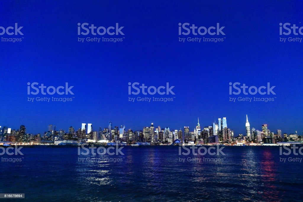 Cityscape of New York City, USA stock photo