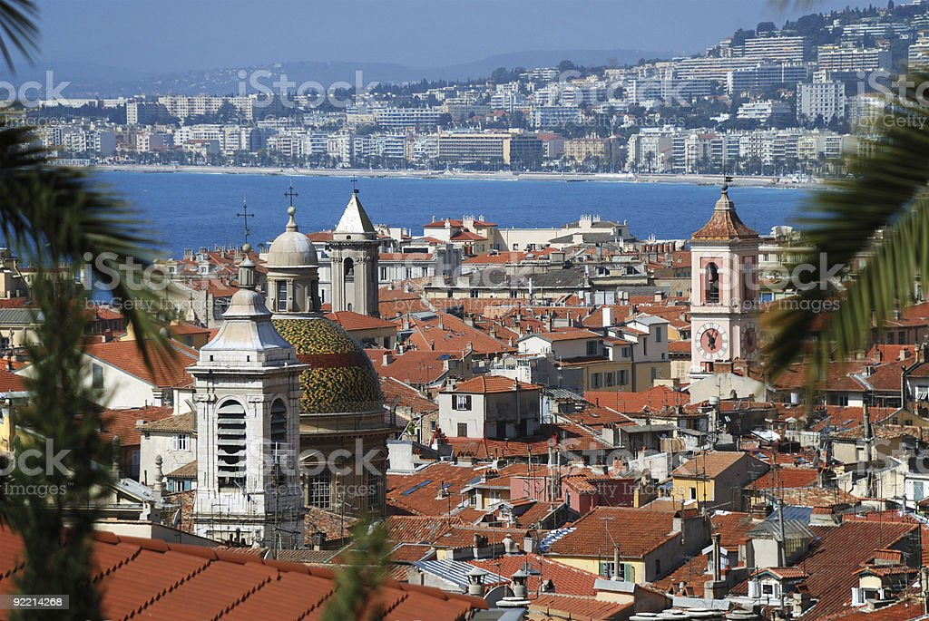 Cityscape of Nice, view from above royalty-free stock photo