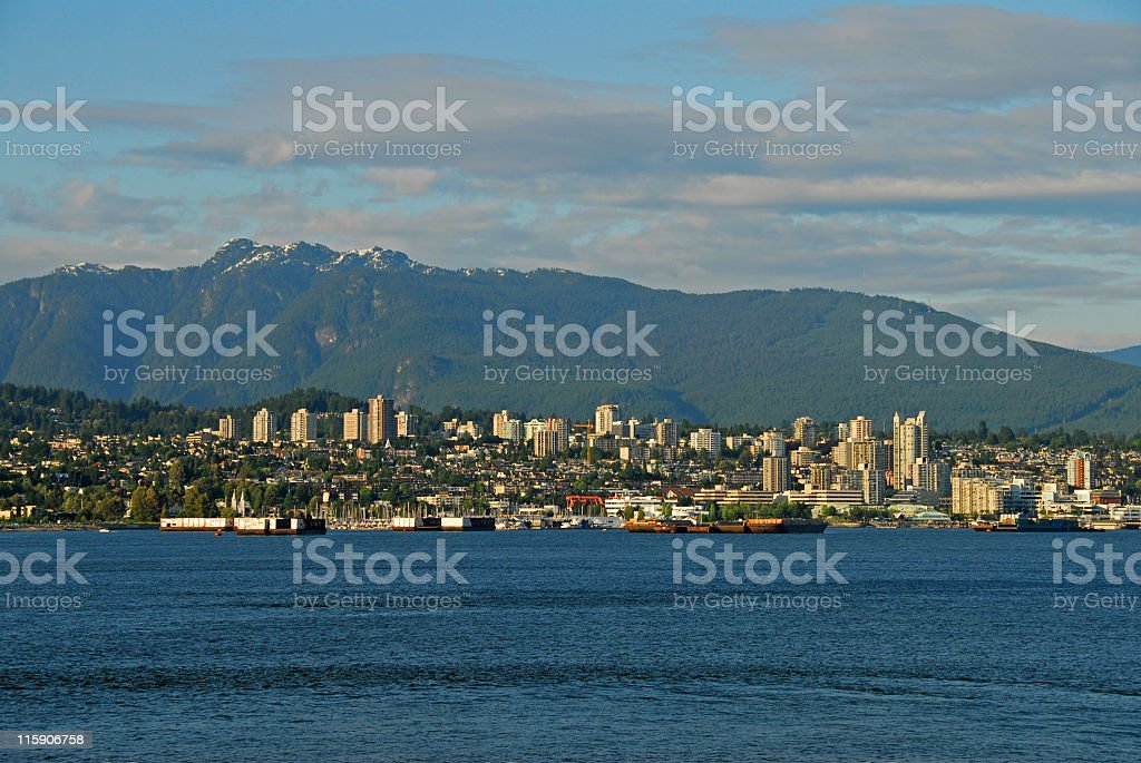 Cityscape of North Vancouver,British Columbia,Canada royalty-free stock photo