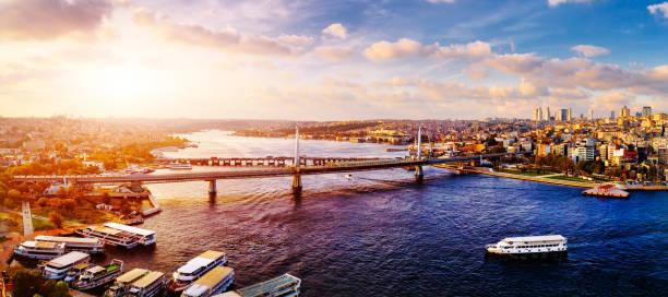 cityscape of of istanbul at dusk, turkey - stambuł zdjęcia i obrazy z banku zdjęć