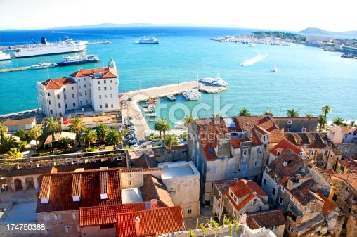 istock Cityscape of old town Split, Croatia 174750368