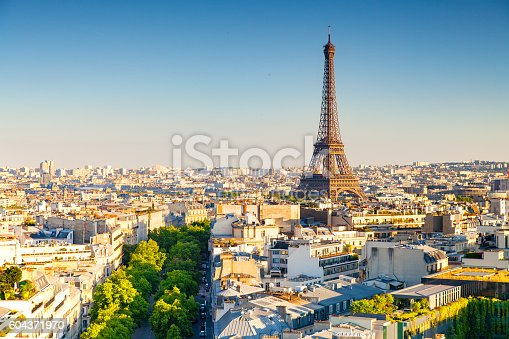 panoramic view of paris, france