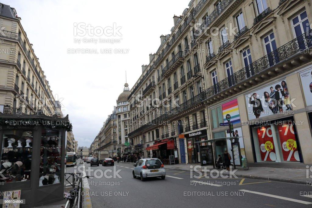 stadsgezicht van Parijs Frankrijk - Royalty-free Buitenopname Stockfoto